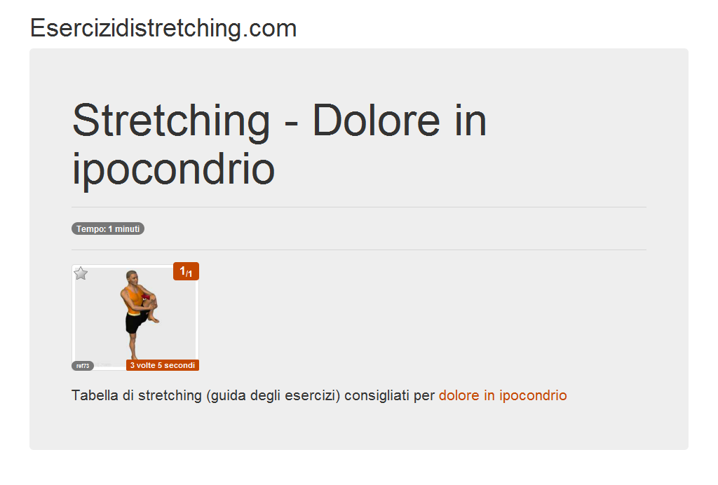 Immagine stretching: Dolore in ipocondrio