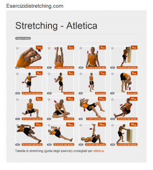 Immagine stretching: Atletica