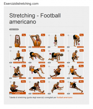 Immagine stretching: Football americano