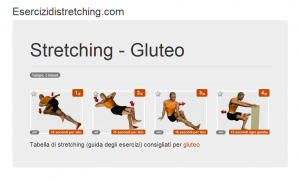 Immagine stretching: Gluteo
