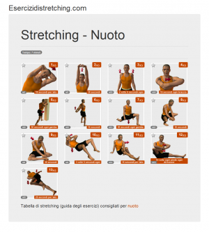 Immagine stretching: Nuoto