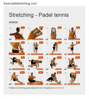 Immagine stretching: Padel tennis