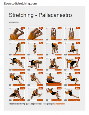 Immagine stretching: Pallacanestro