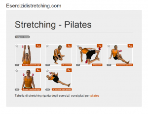 Immagine stretching: Pilates