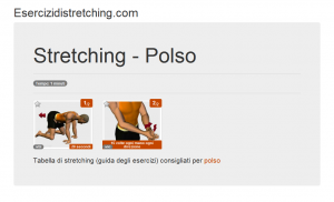 Immagine stretching: Polso