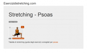 Immagine stretching: Psoas