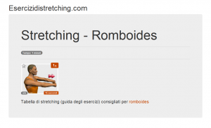 Immagine stretching: Romboides