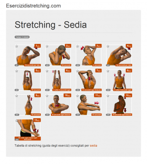 Immagine stretching: Sedia