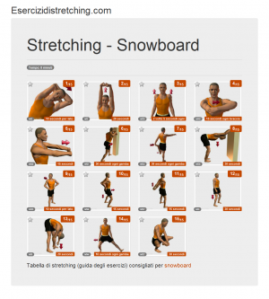 Immagine stretching: Snowboard