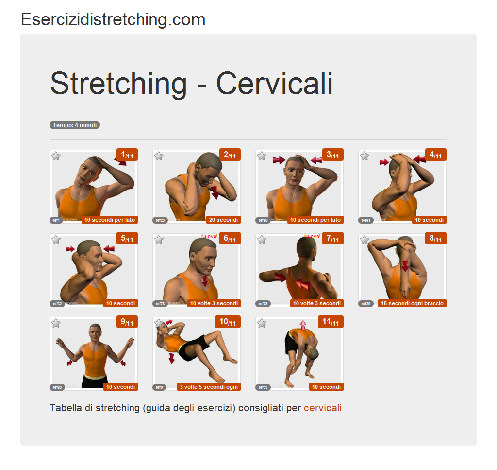 Souvent Esercizidistretching.com - Immagine stretching - Cervicali NF88